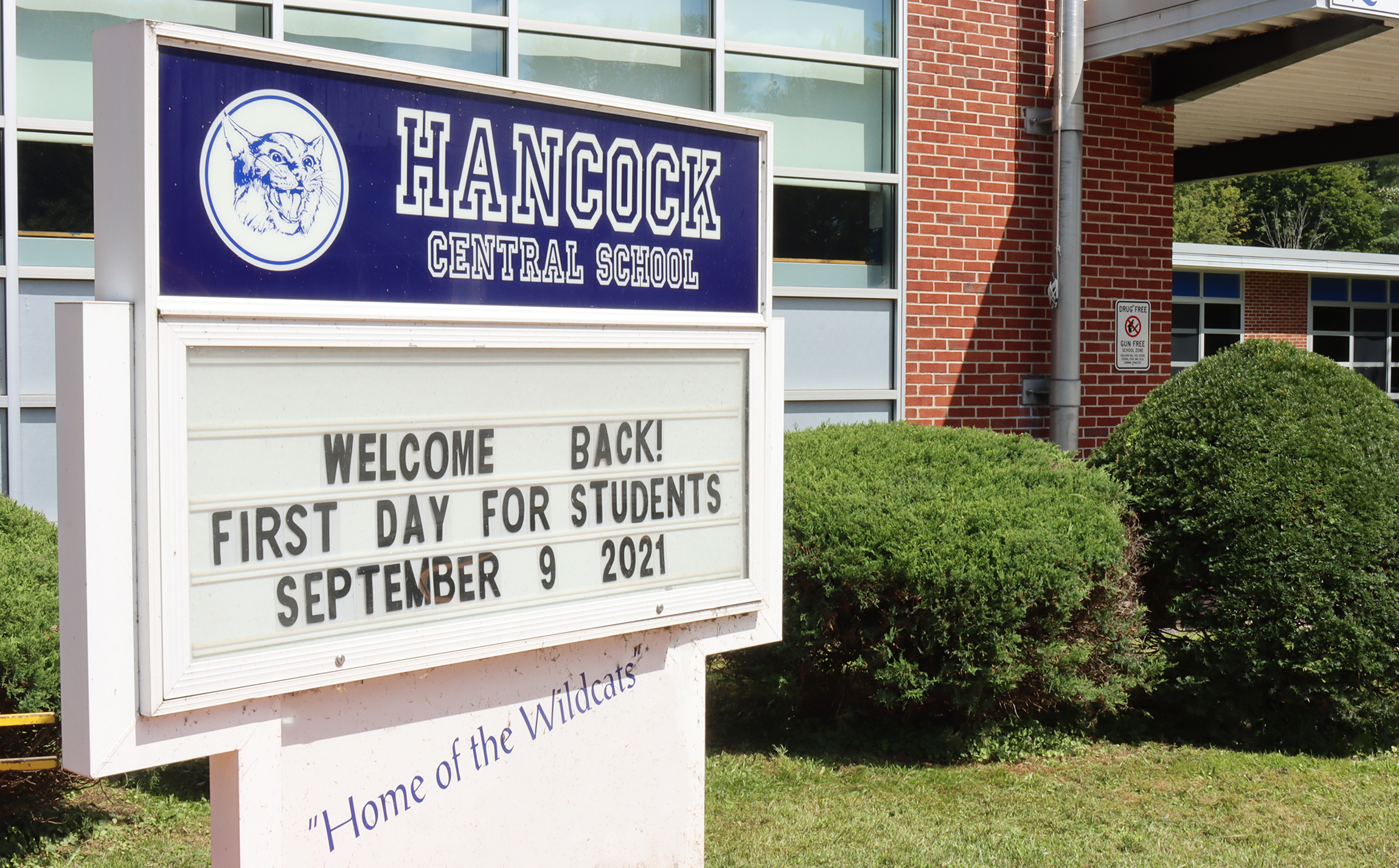 Hancock sign first day of school (9/2021)