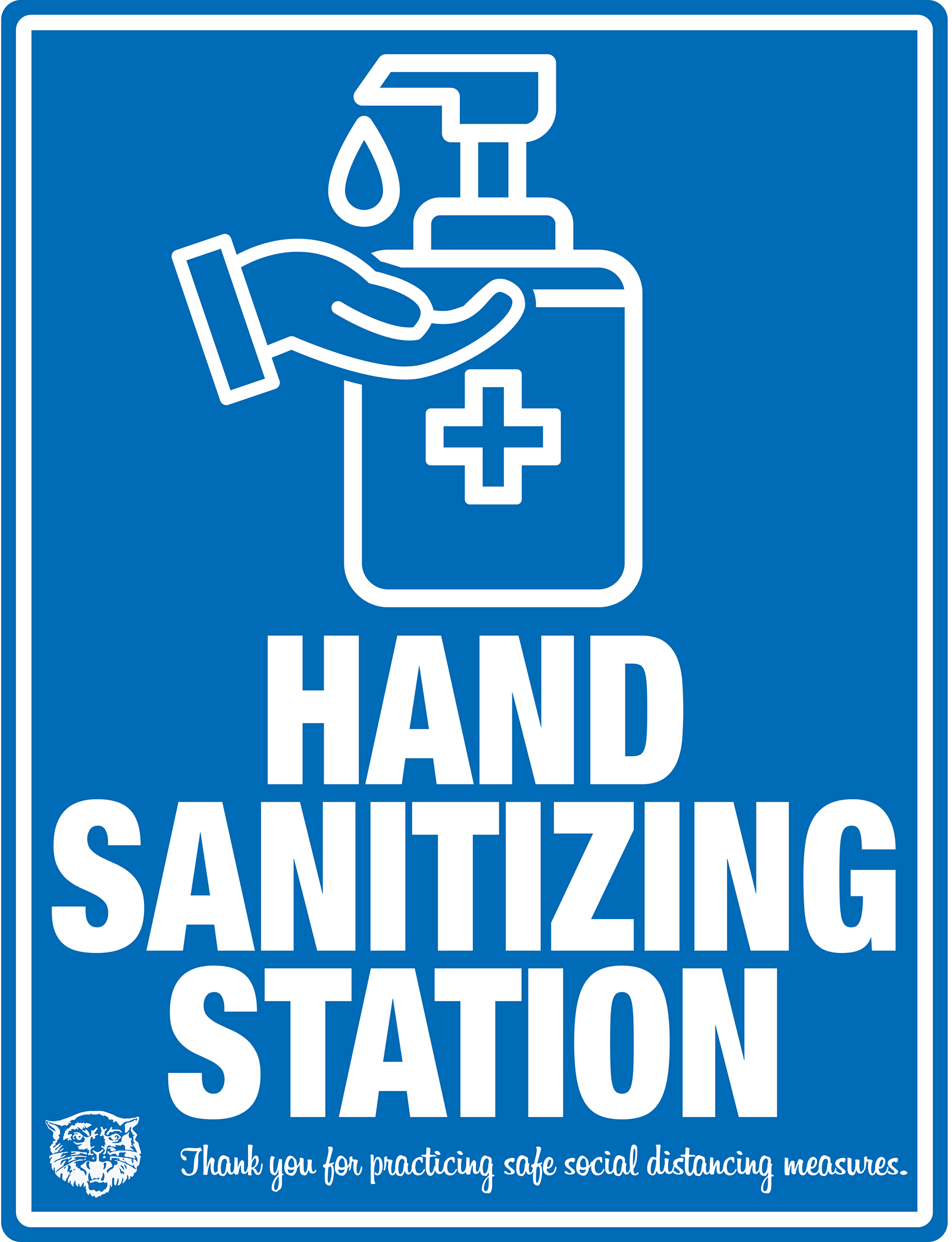 HAND SANITIZING STATION Thank you for practicing safe social distancing measures.