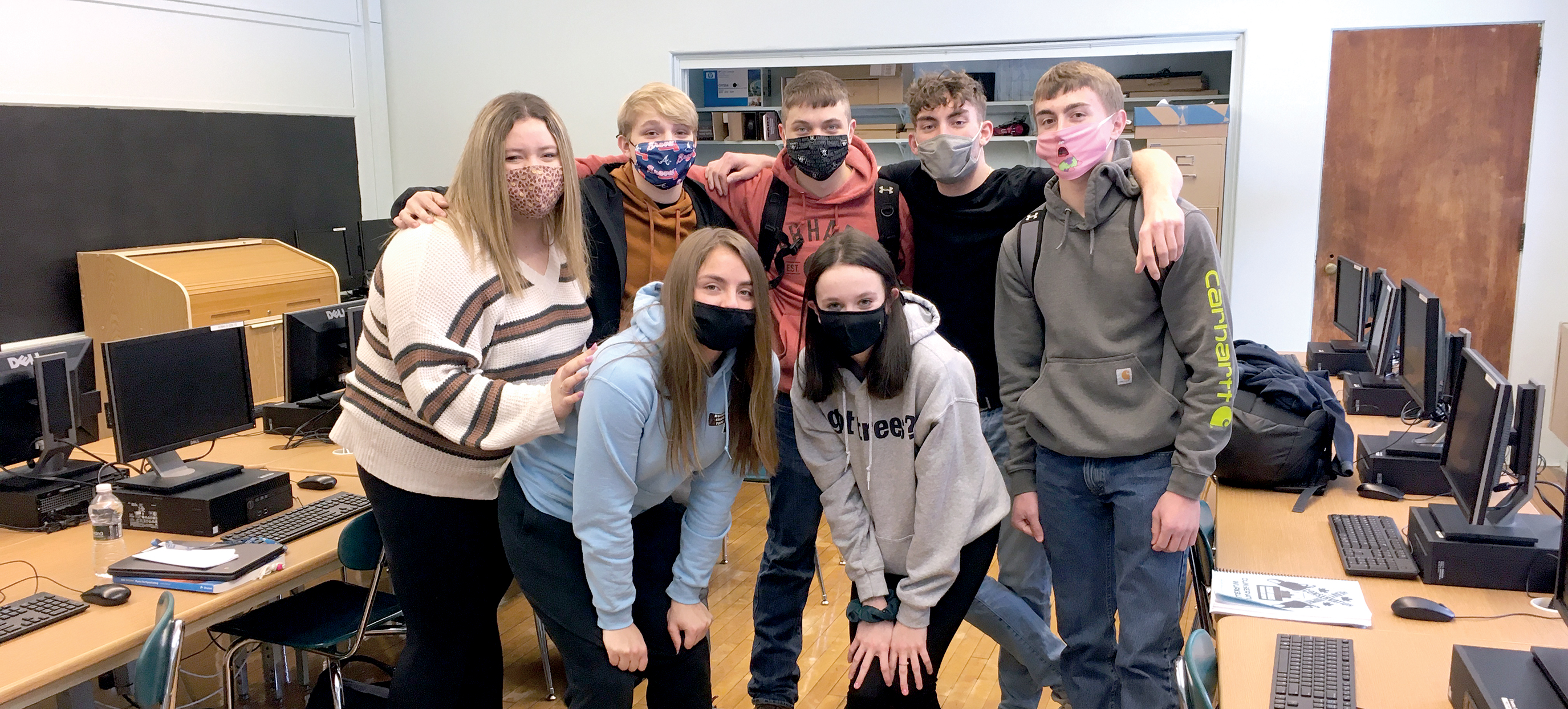Students in classroom with masks