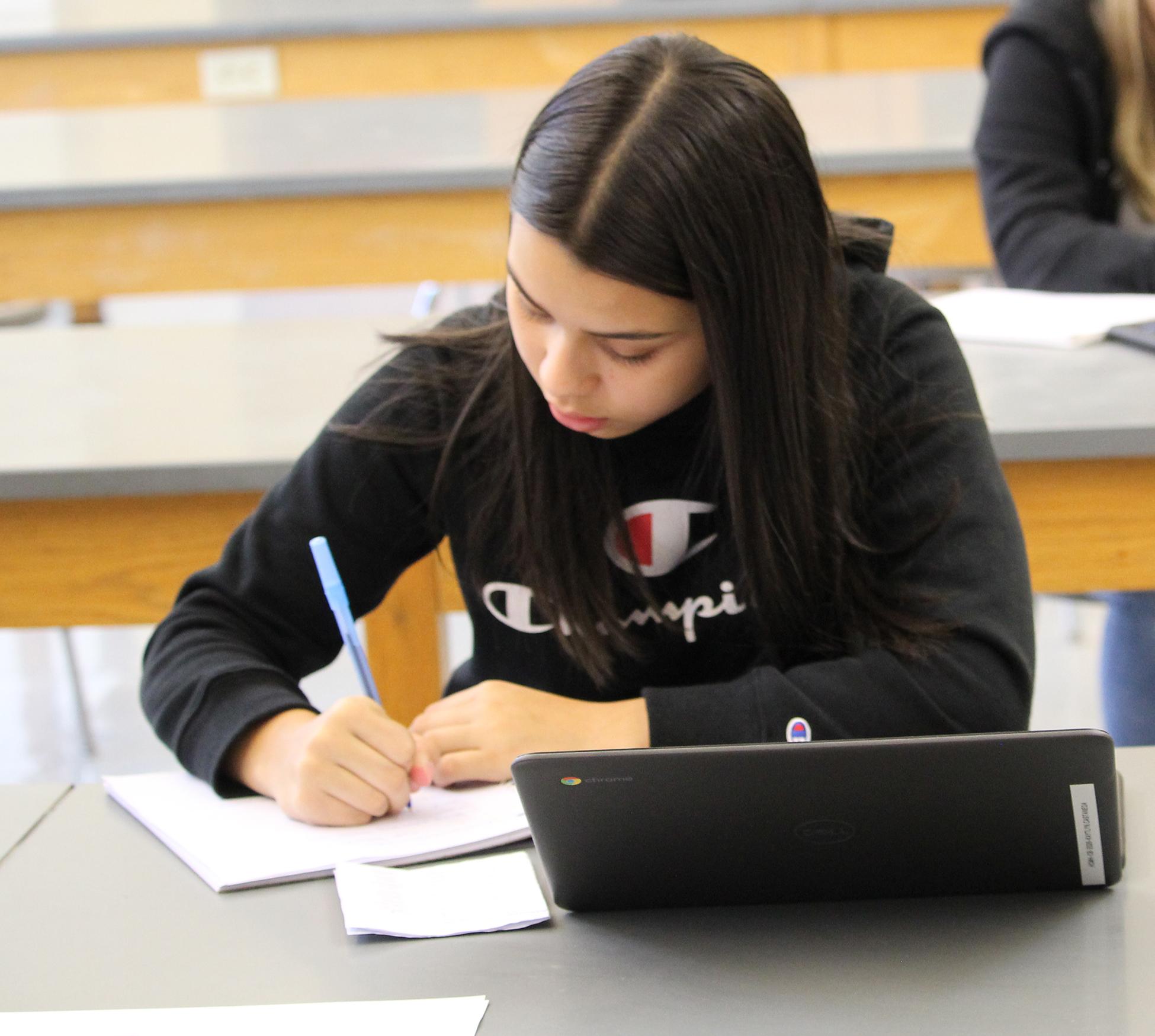 Student at desk (10/2020)