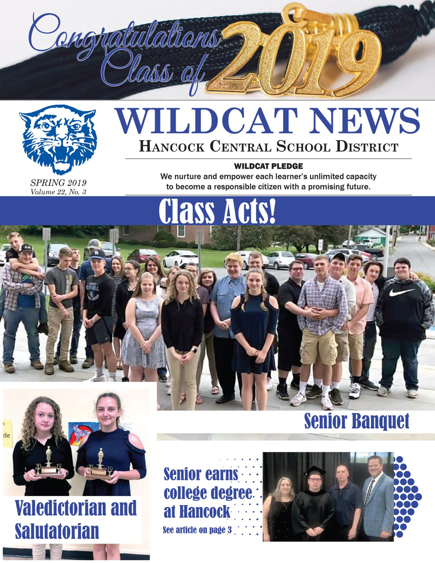 Newsletter cover Spring 2019