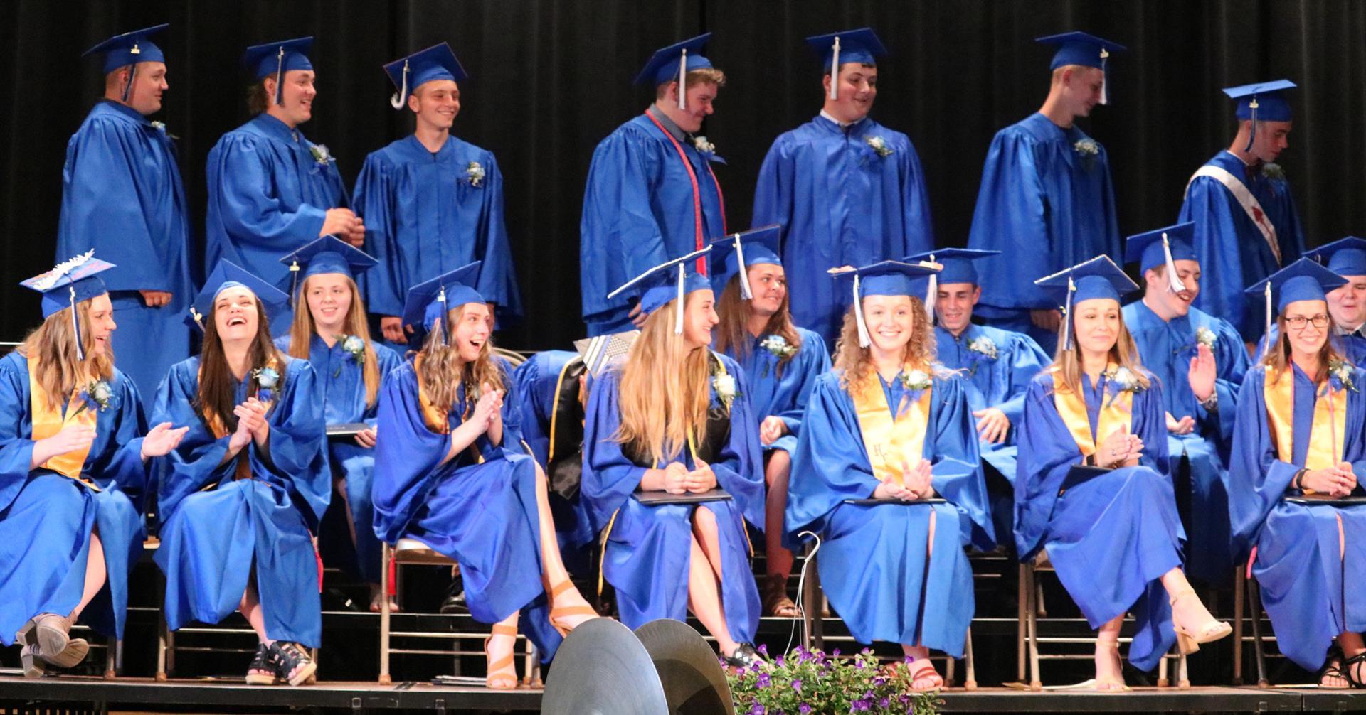 Hancock students at 2019 Graduation Ceremony