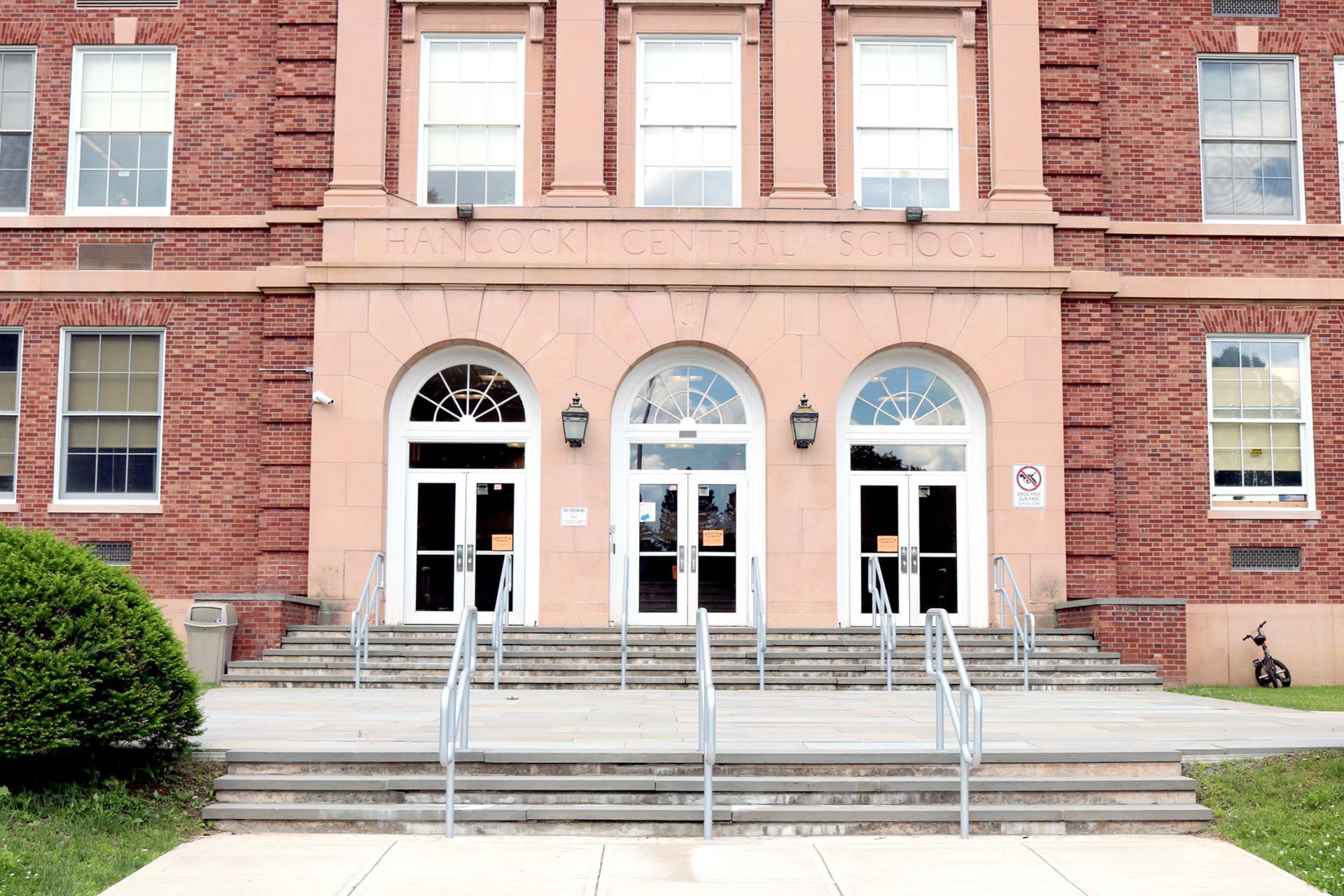 Hancock Central School entrance 2019