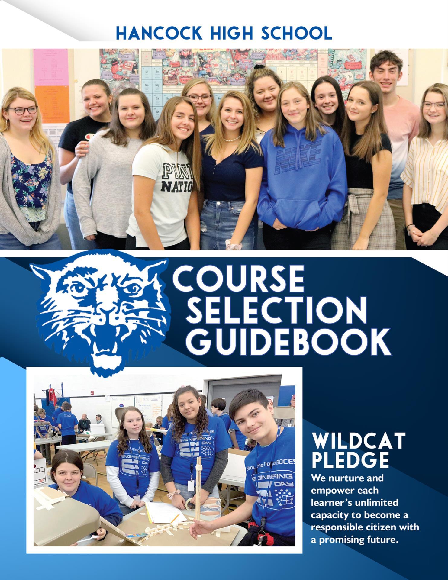 Hancock Course Selection Guidebook Cover 2020-2021