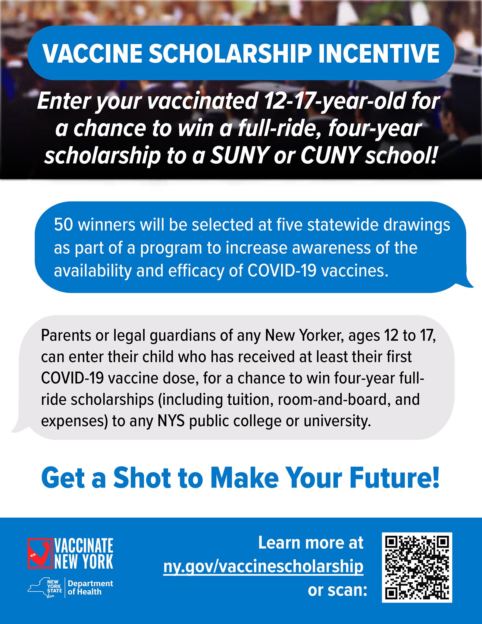 Vaccine Scholarship Incentive Flyer (6/2021)
