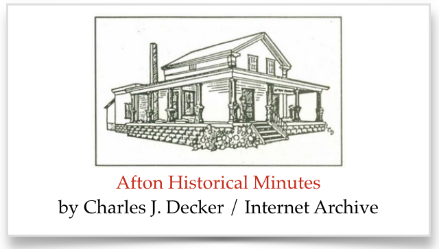 Graphic link to off-site database at the Internet Archive of Afton Historical Minutes.