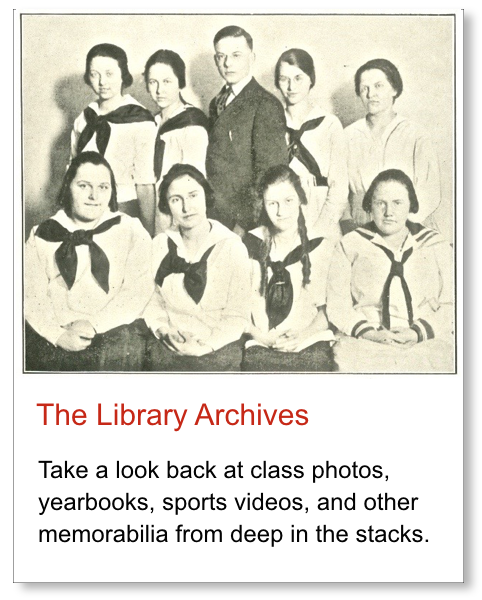 Graphic link to our library archive collections.