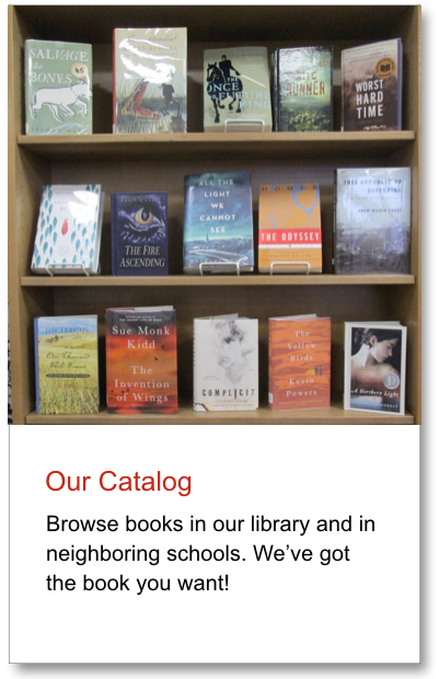 Graphic link to the ACS MS/HS Library catalog.