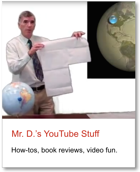Graphic link to an embedded collection of Mr. D.'s YouTube Library videos.