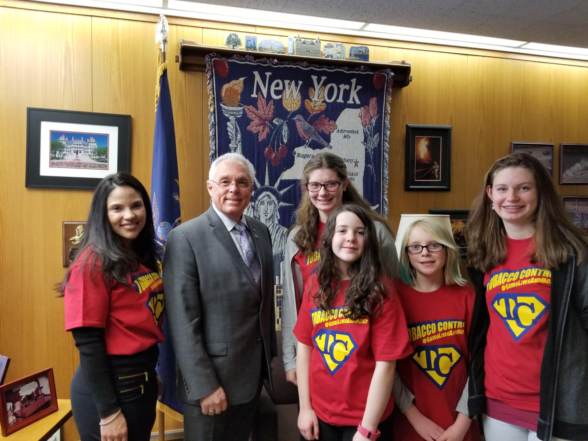 CV-S Students with Assemblyman Clifford Crouch