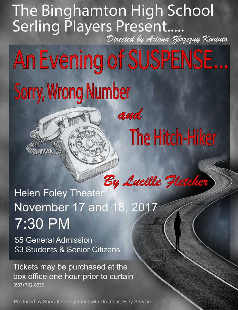 Poster for Fall Play
