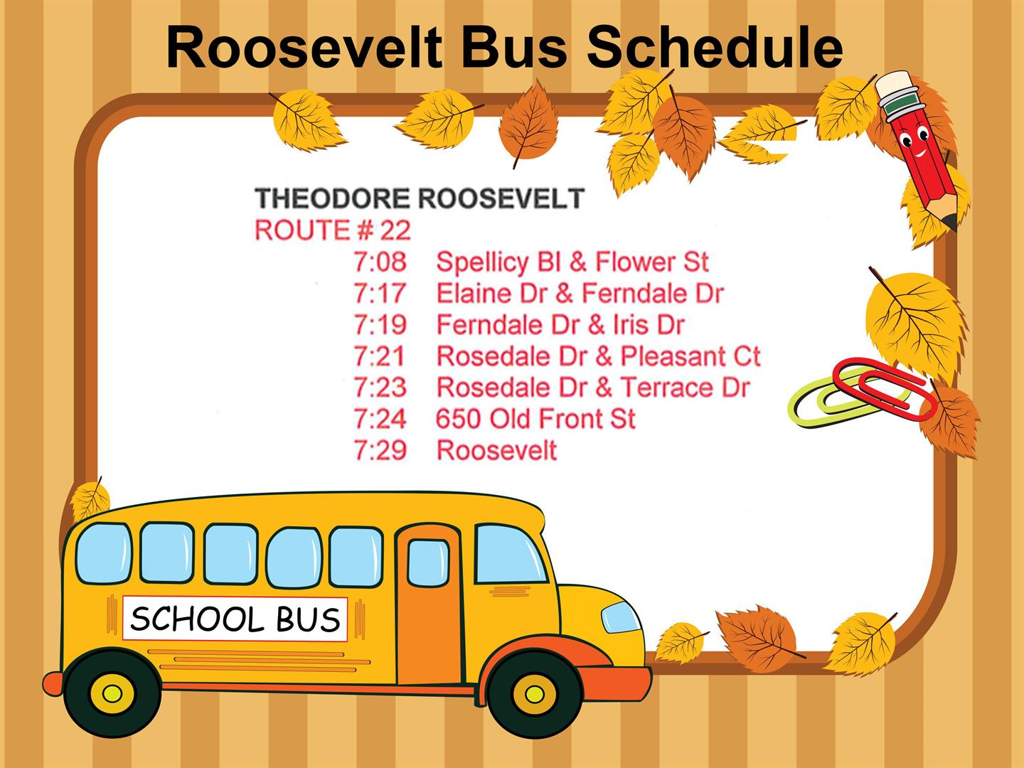 Graphic for Bus Schedule