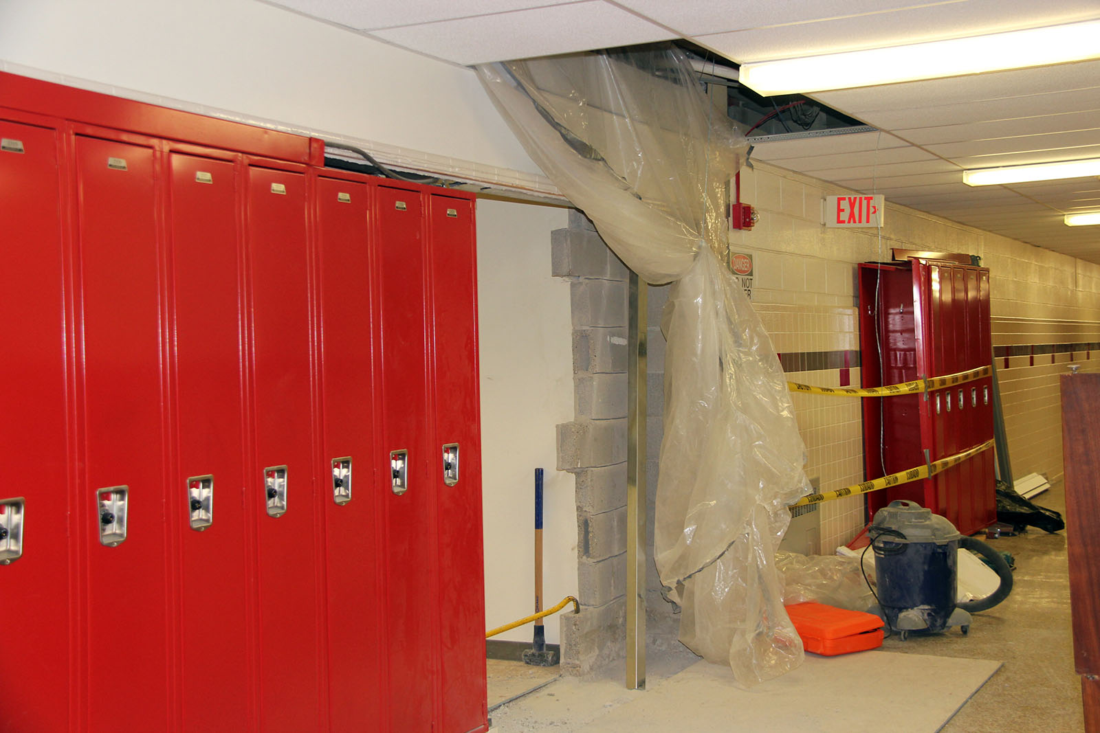 New lockers in Middle School