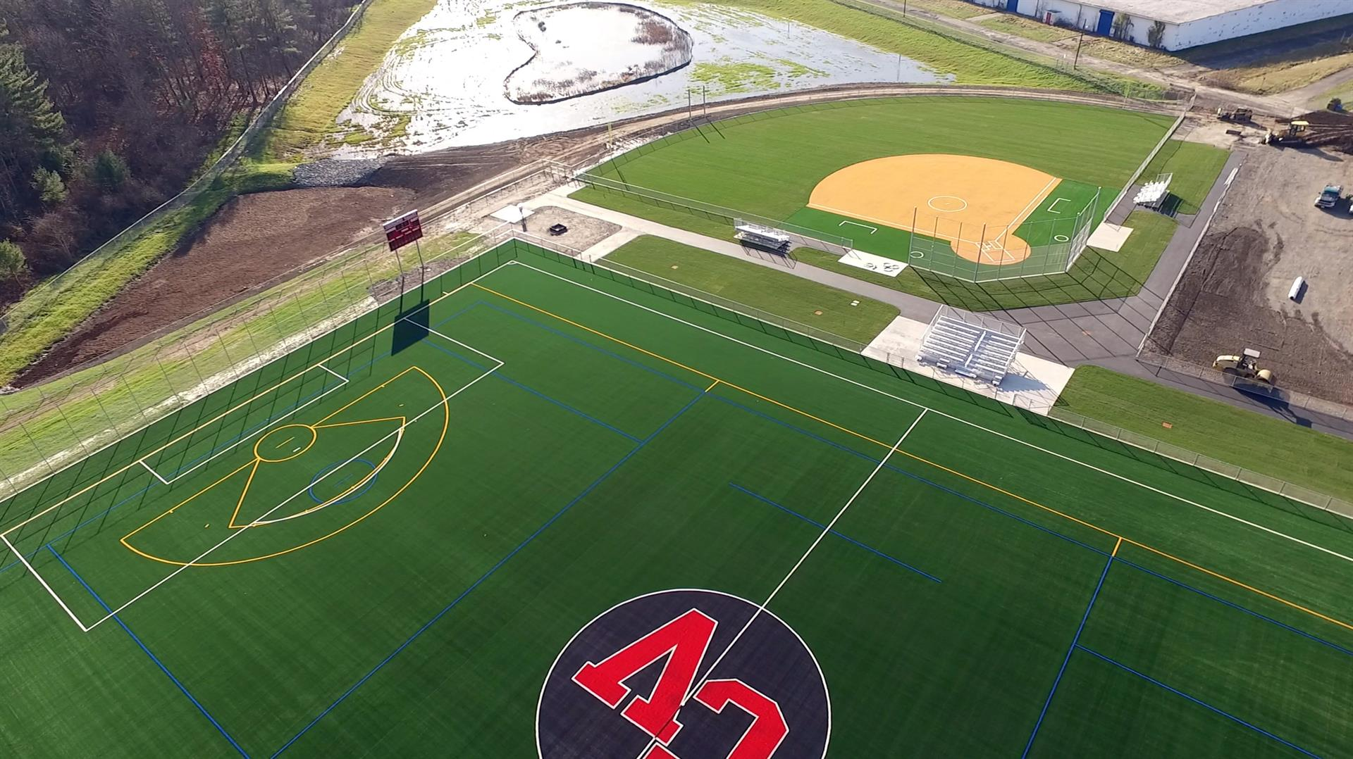 New turf athletic field