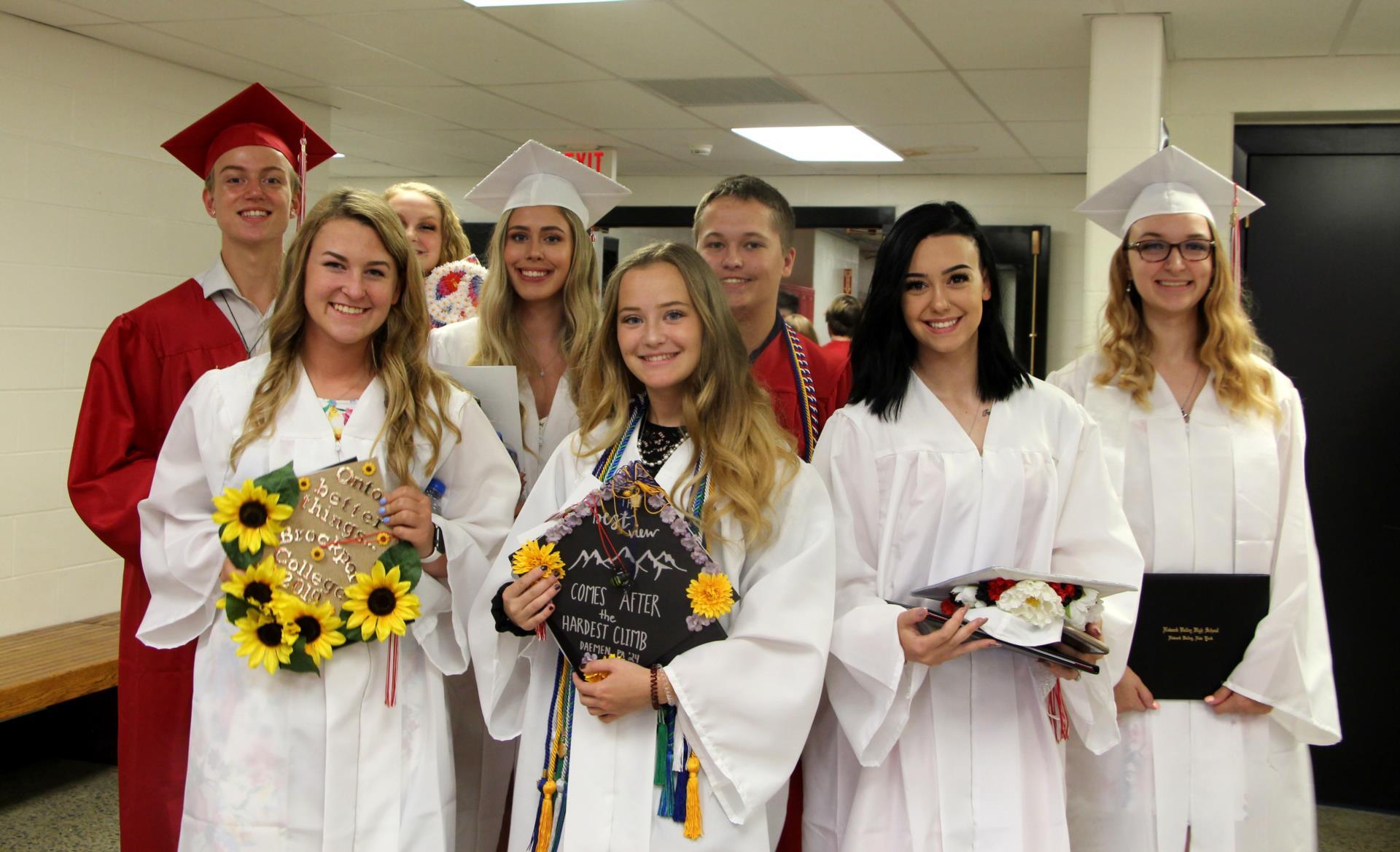 Eight graduates