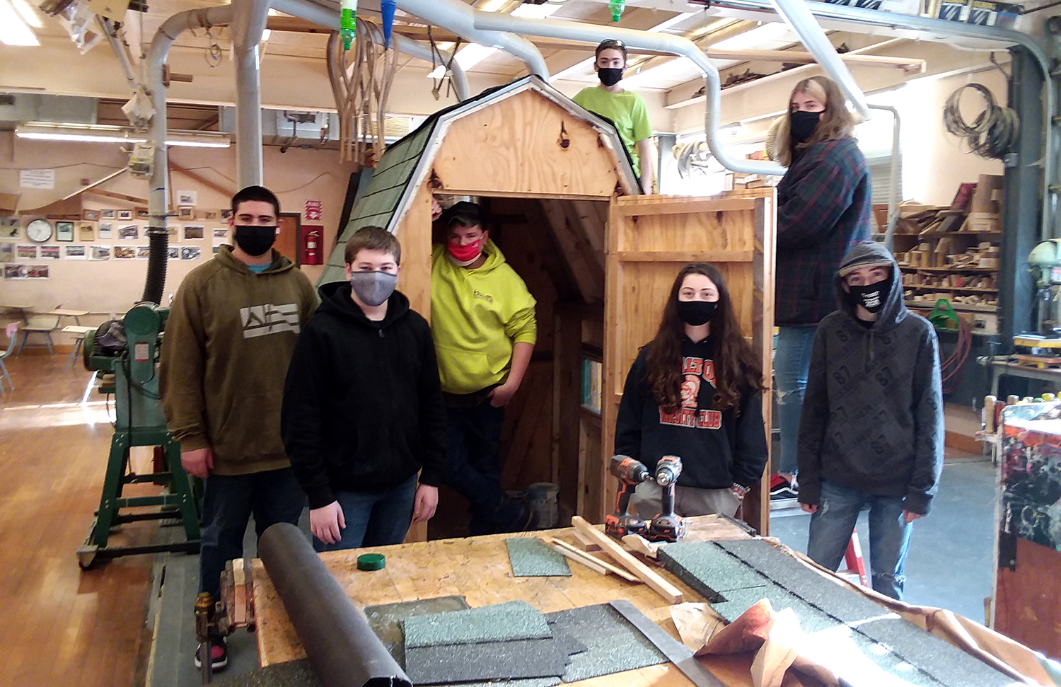 Construction class with shed 2021