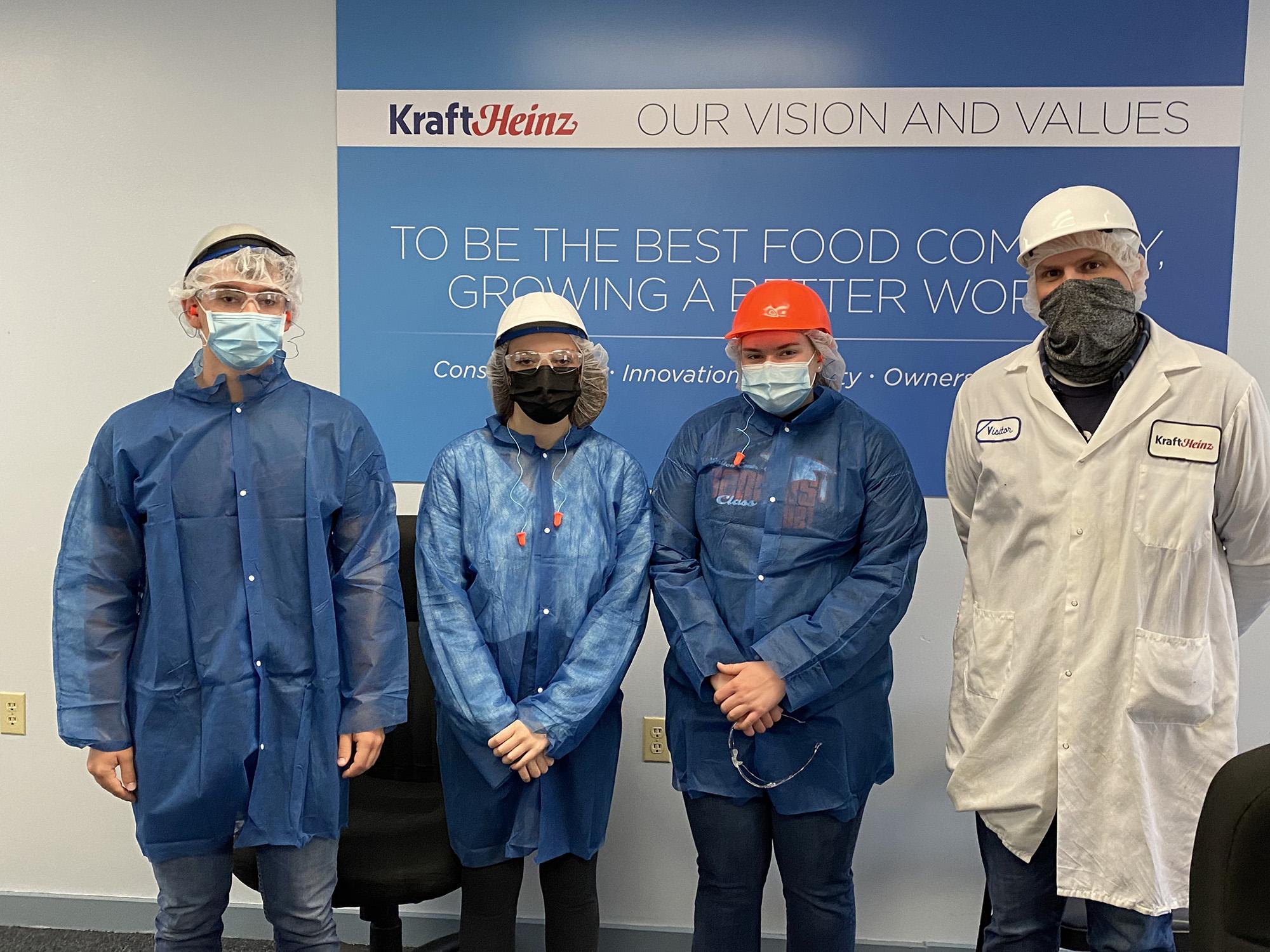Walton students touring Kraft