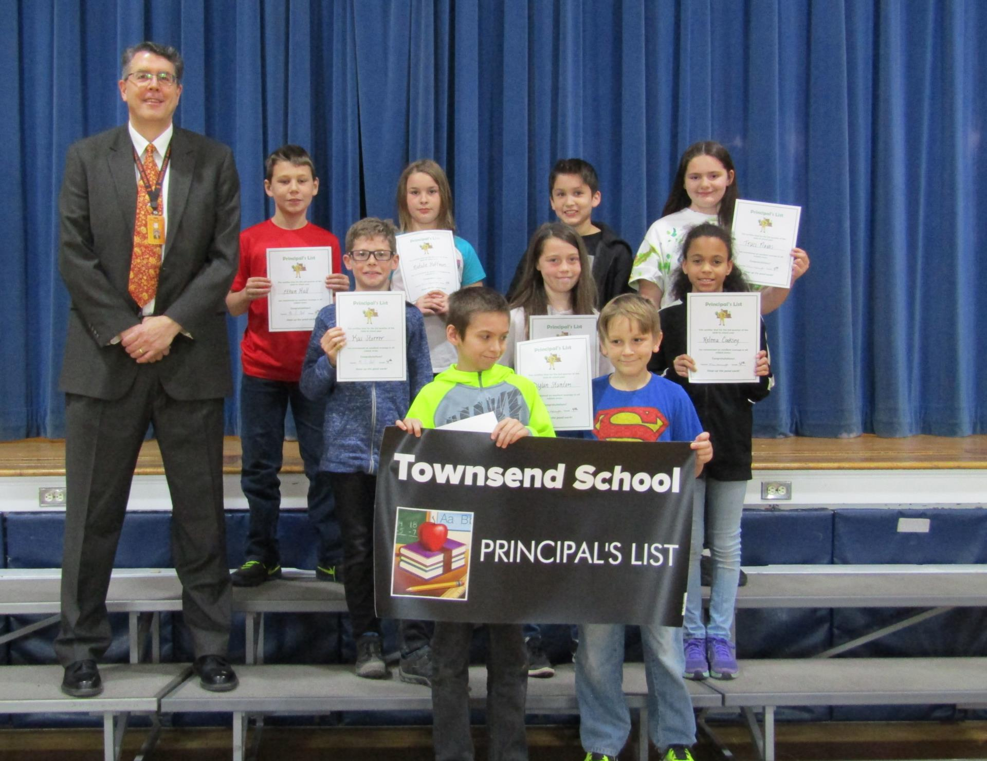 Fifth grade principal's list 3rd quarter 2019