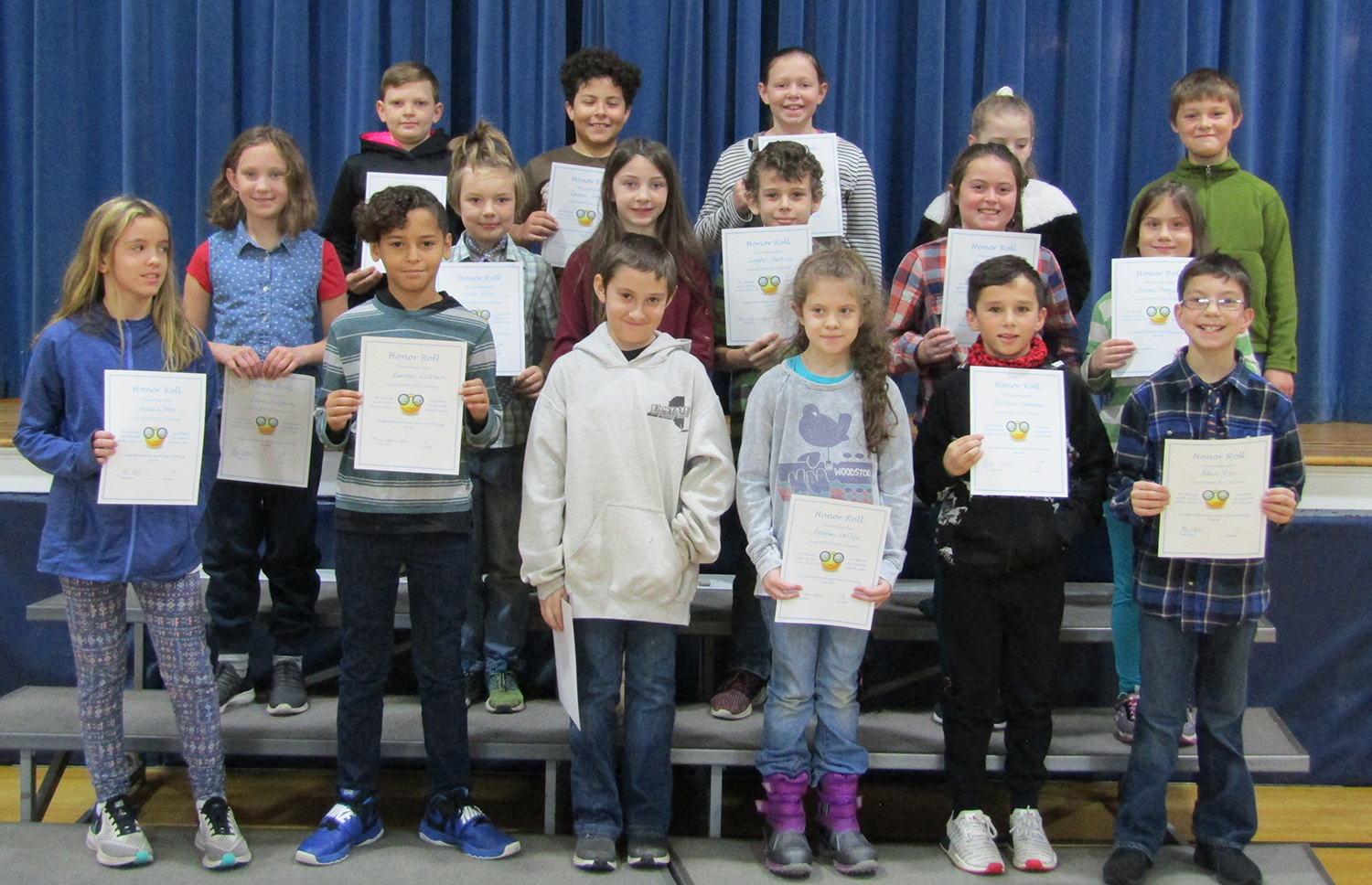 Fourth grade honor roll first quarter 2019-20