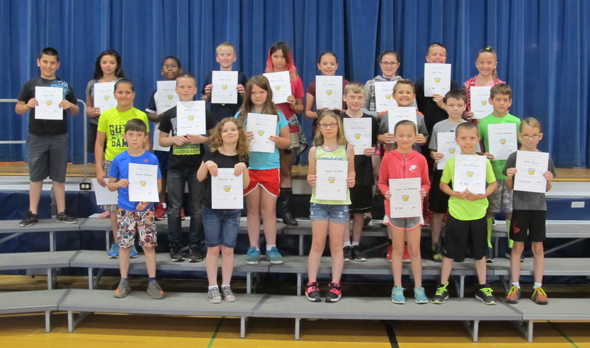 4th grade honor roll spring 2018