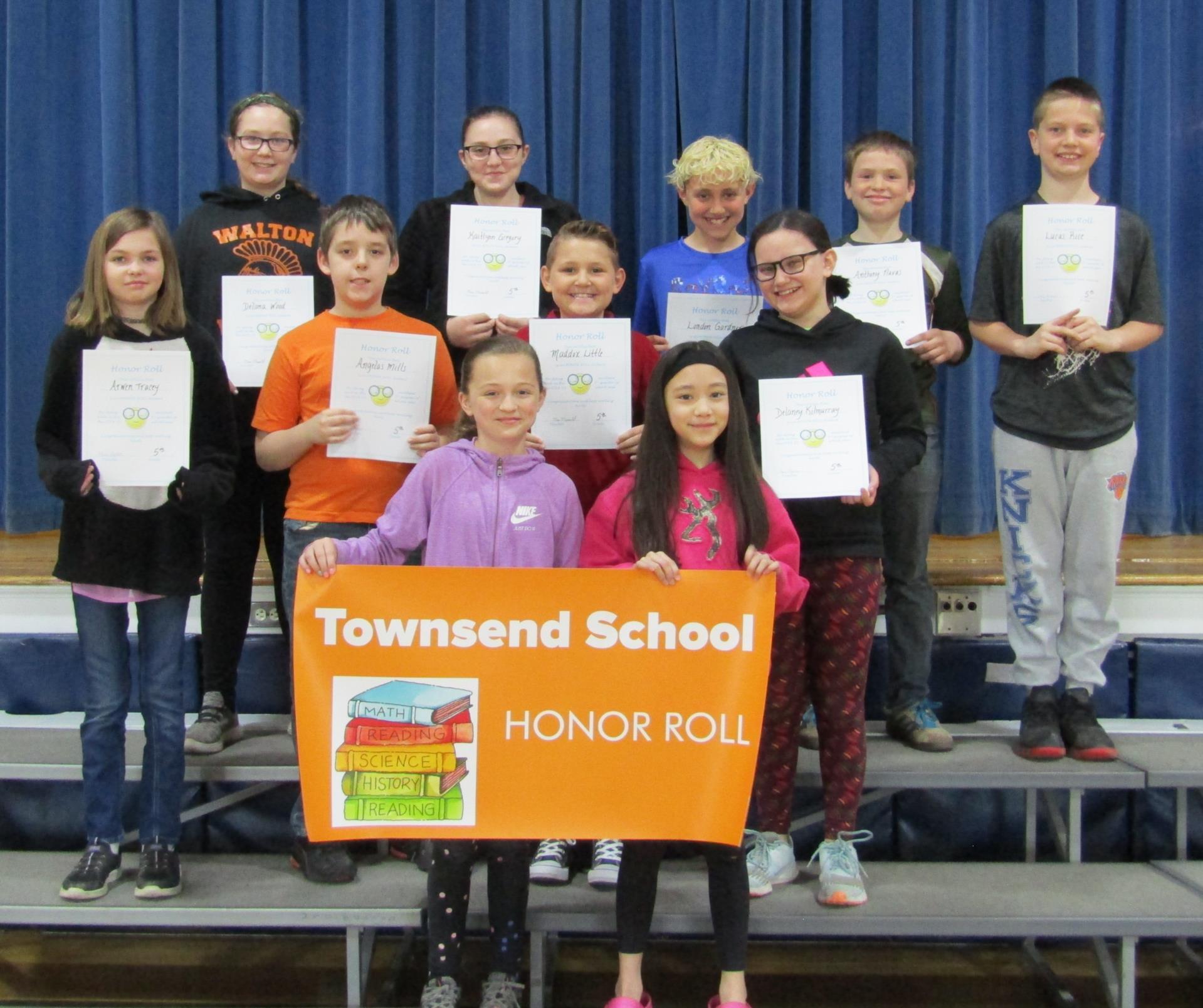 5th grade honor roll 3rd quarter 2019