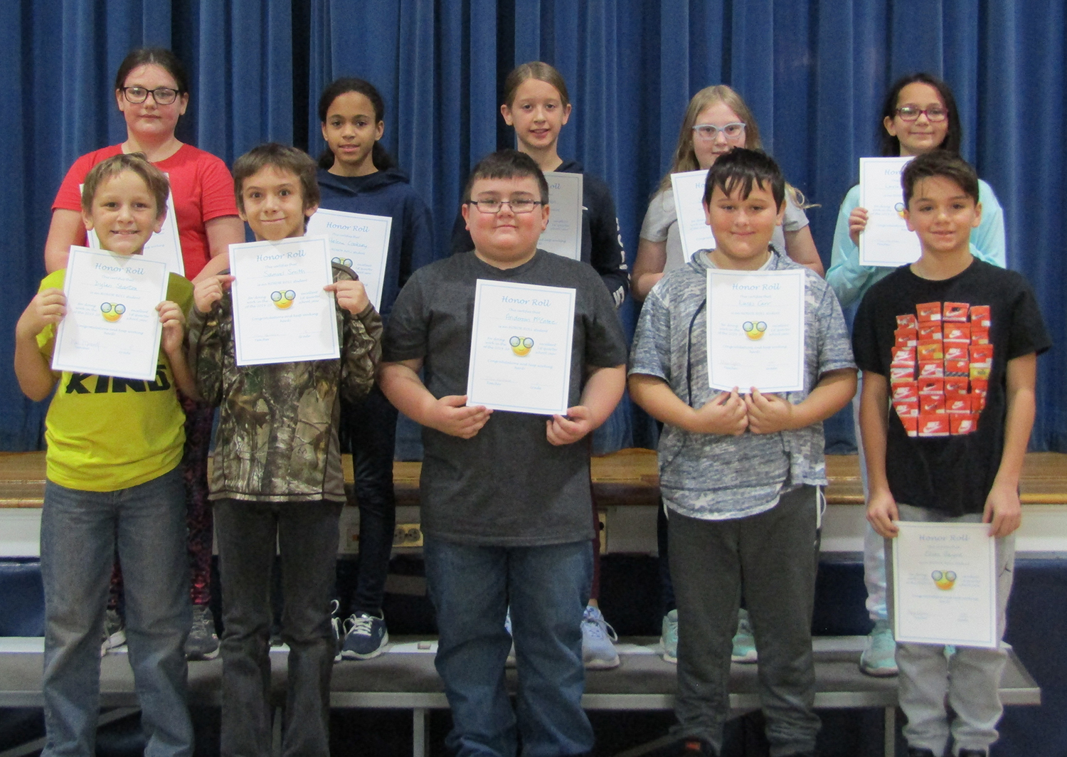 Fifth grade honor roll first quarter 2019-20