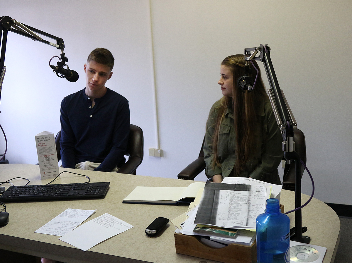 Walton students interviewed at WDLA studios