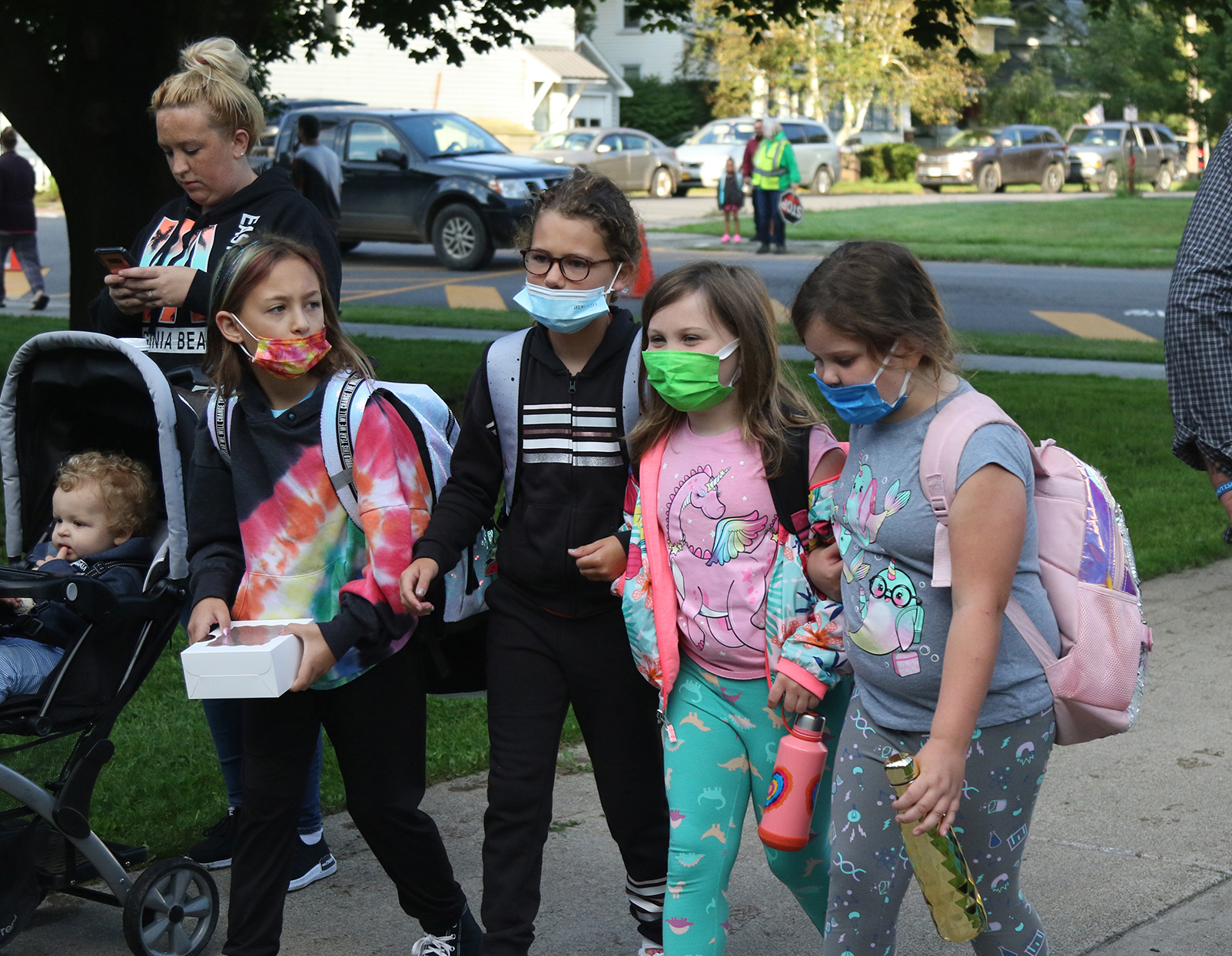 Students on first day of school 2021