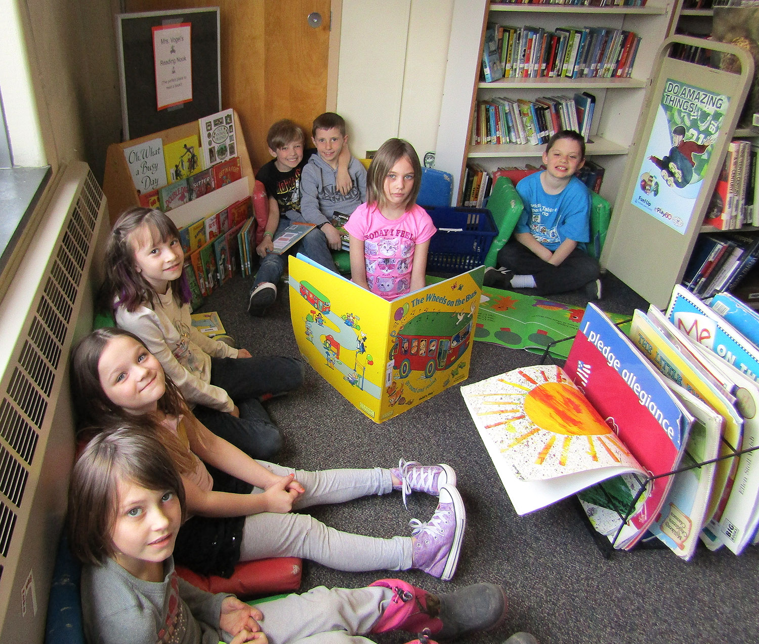Students in the Reading Nook
