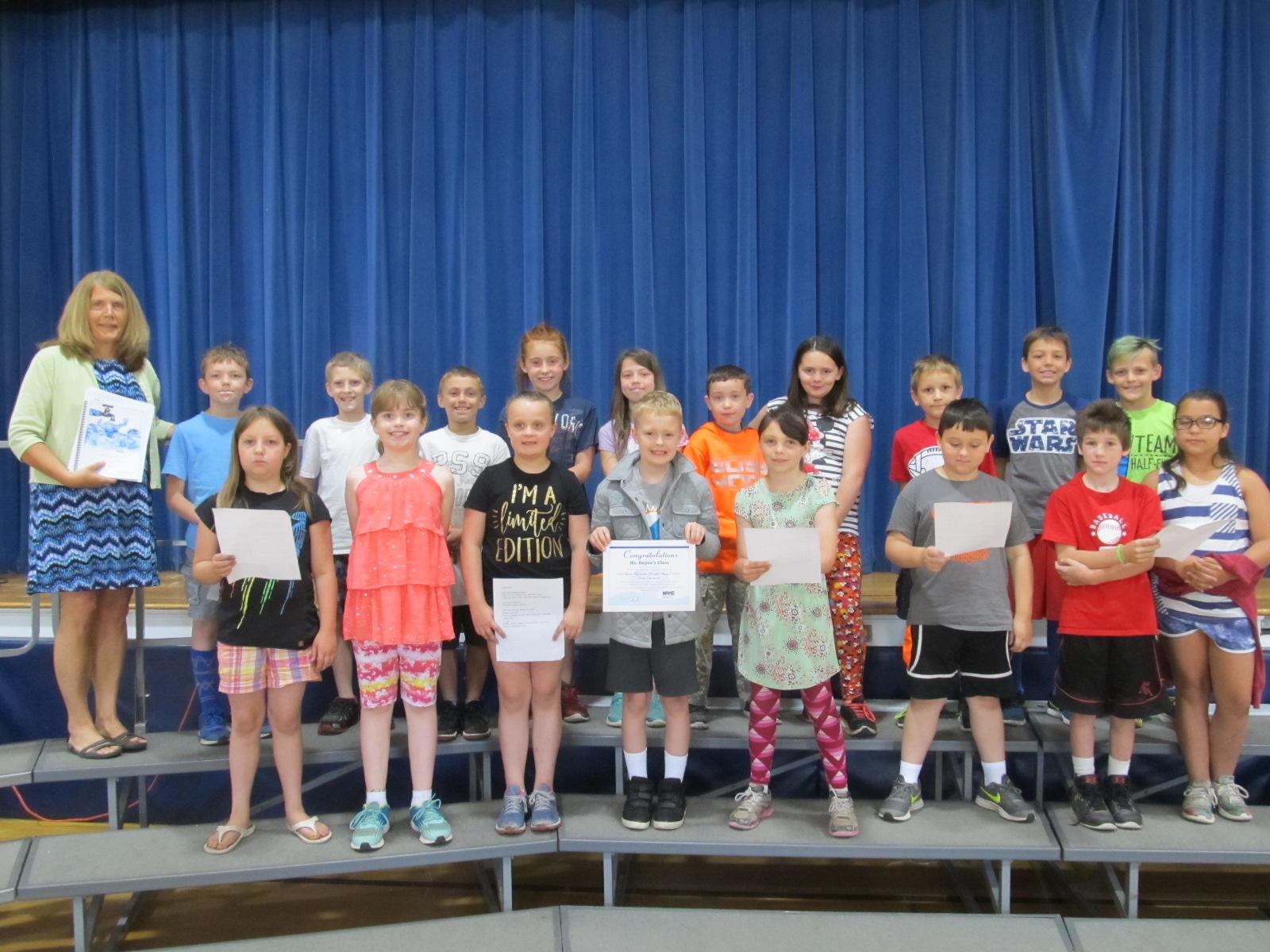 DEP poetry winners (Angie Bayne's class)