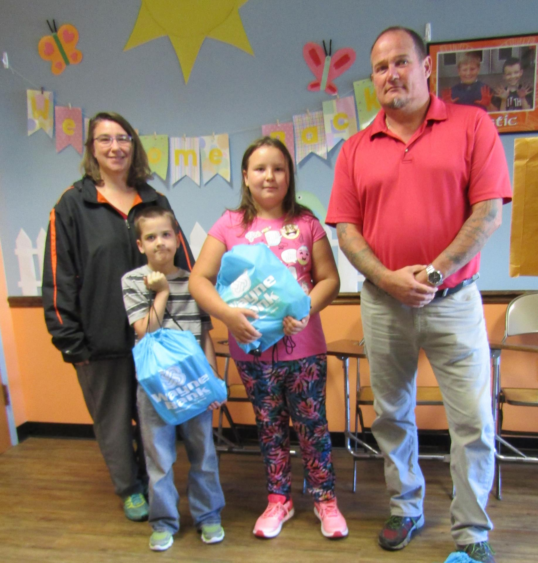 Wayne bank delivers donations