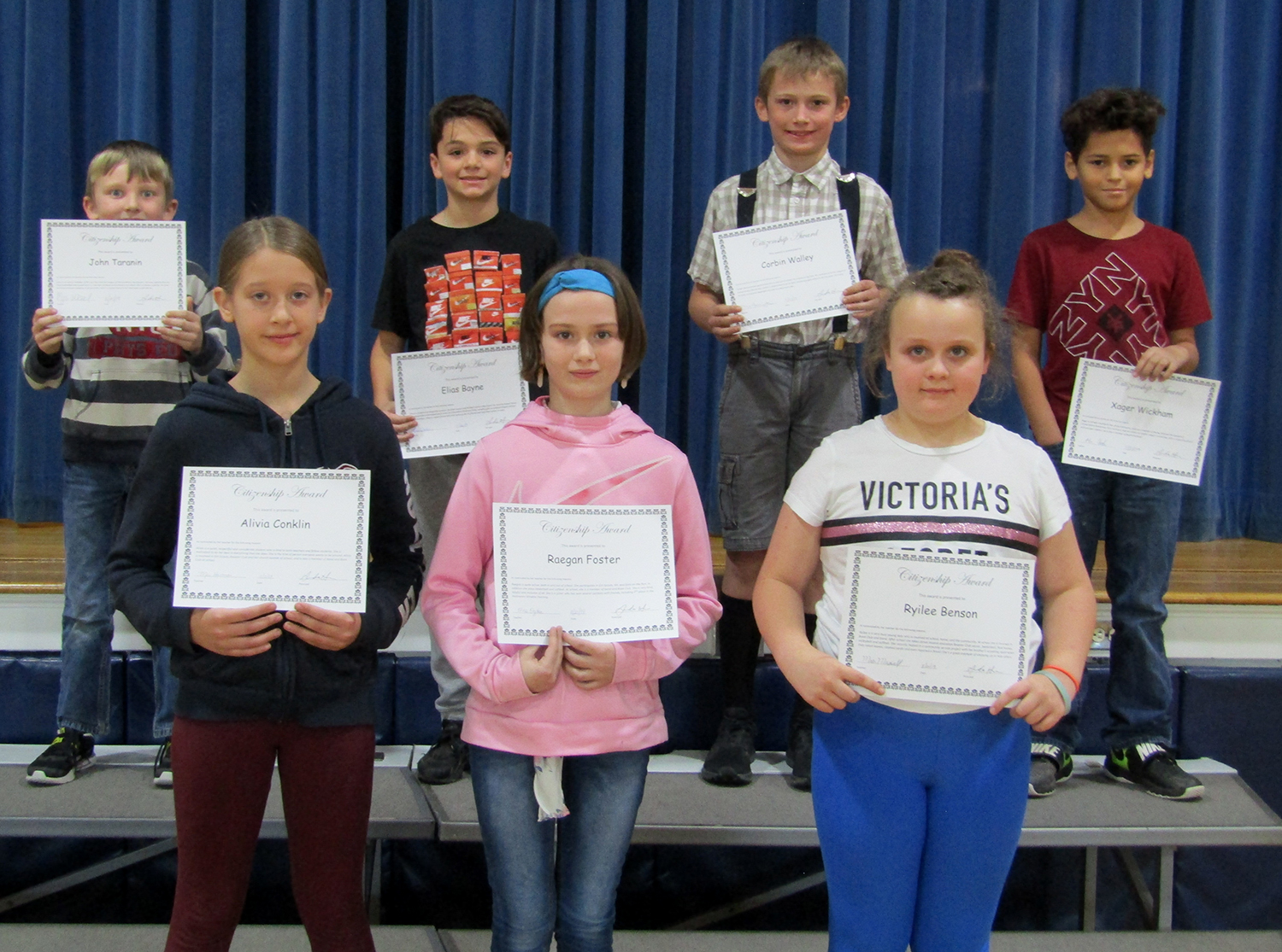 fourth and fifth grade citizenship awards first quarter 2019-20