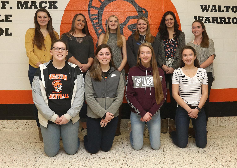 Girls basketball scholar-athletes