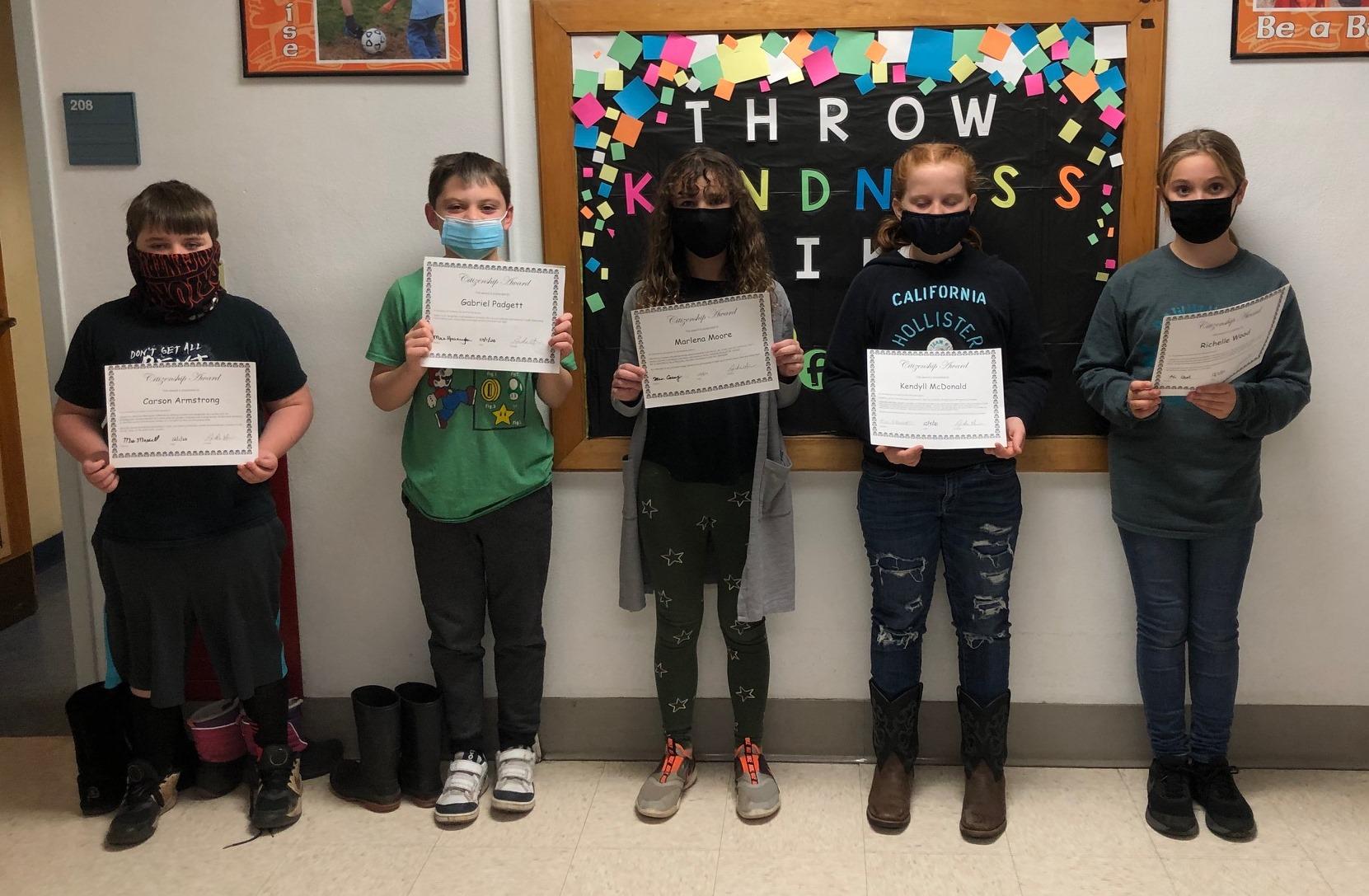 4th grade citizenship award