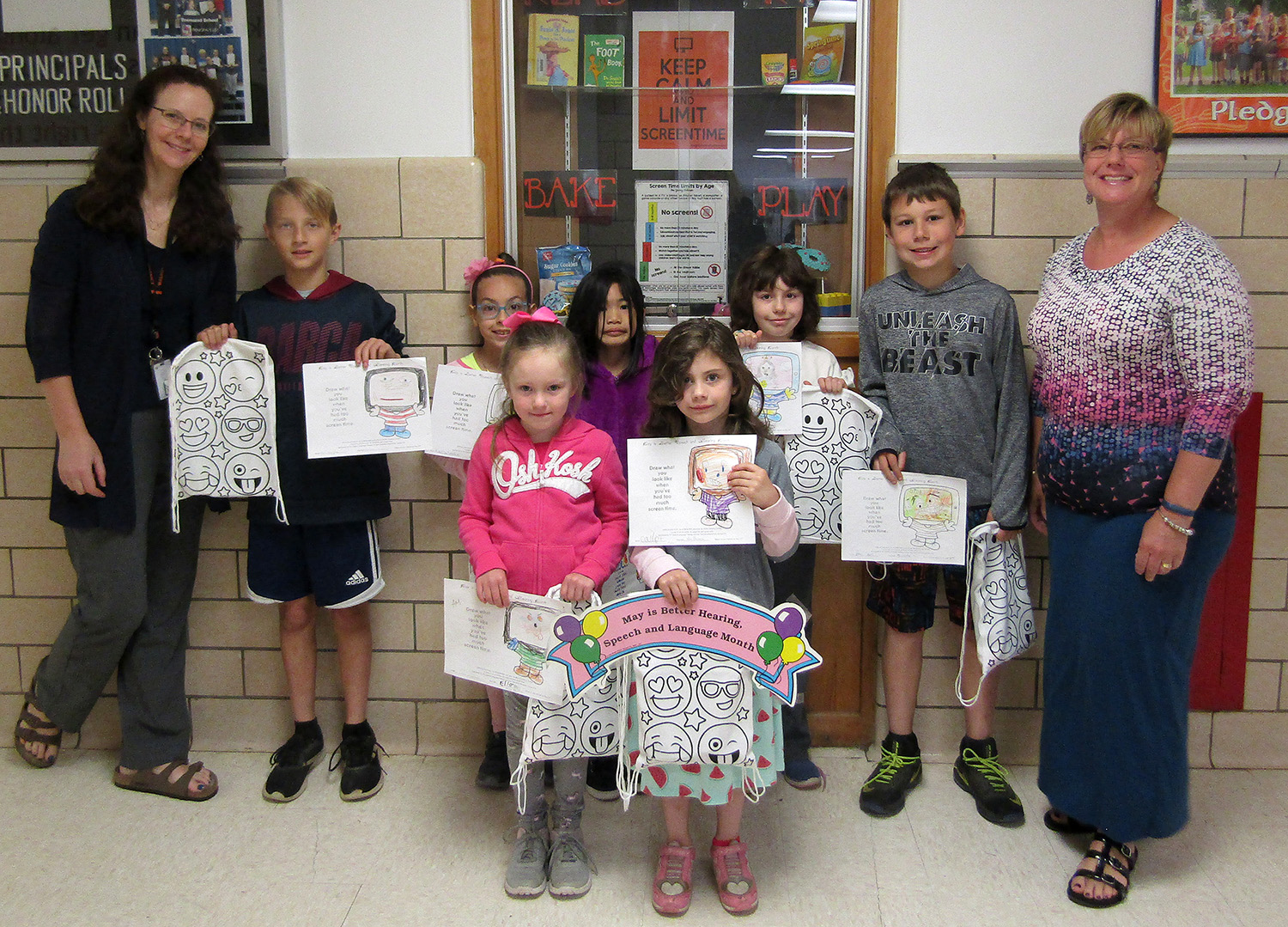 Better Speech and Hearing Month drawing contest winners