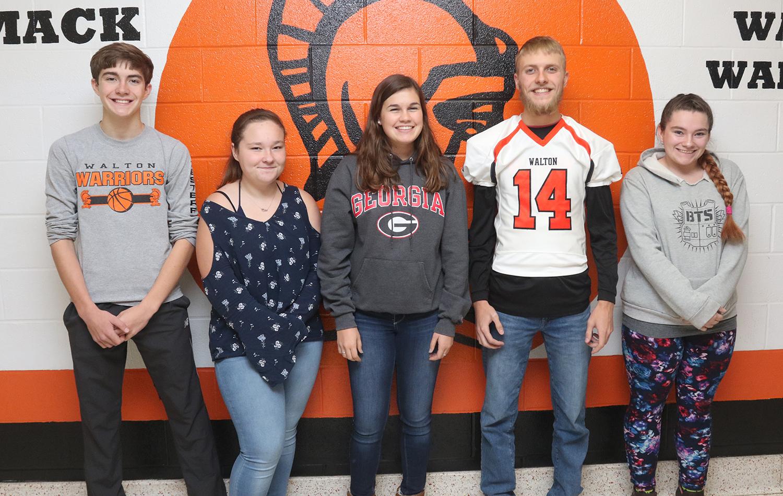 2019 MAC fall scholar-athletes for Walton