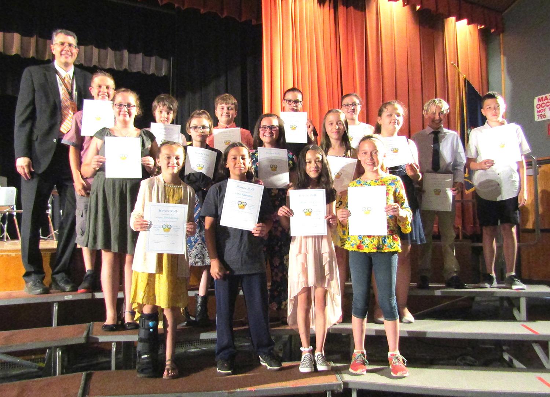 fifth grade honor roll