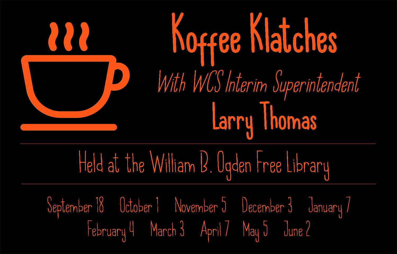 Koffee Klatches dates 2019-20