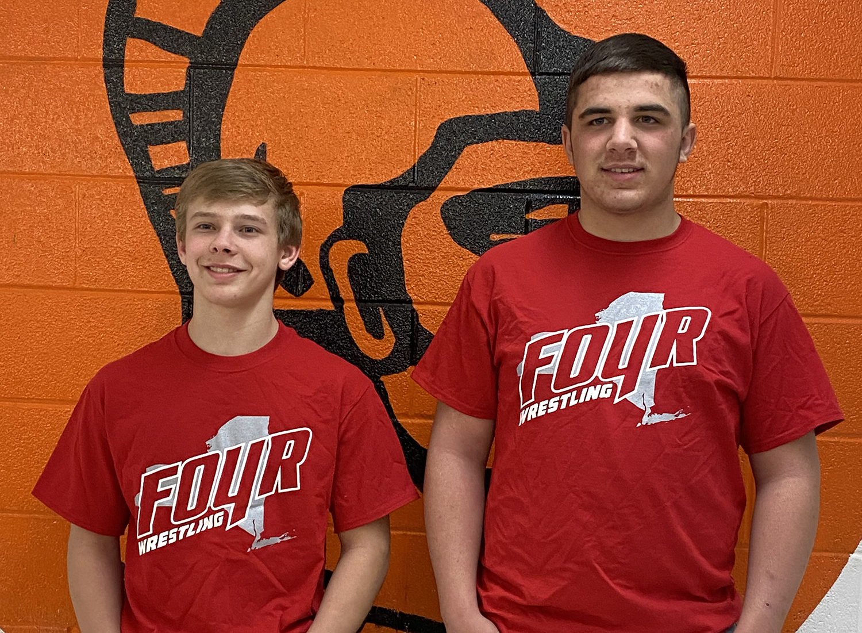 Cody Merwin and Scott Barnhart wrestling states