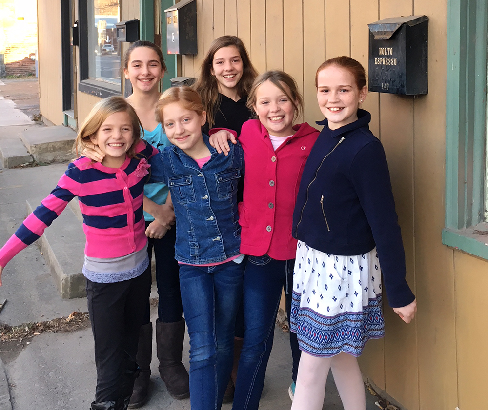Six Walton students who will perform in the Nutcracker at SUNY Oneonta.