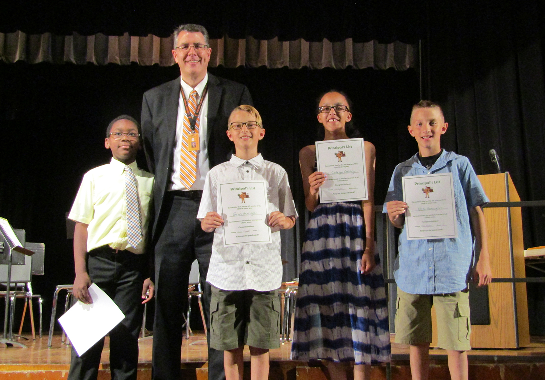 Fifth grade principal's list