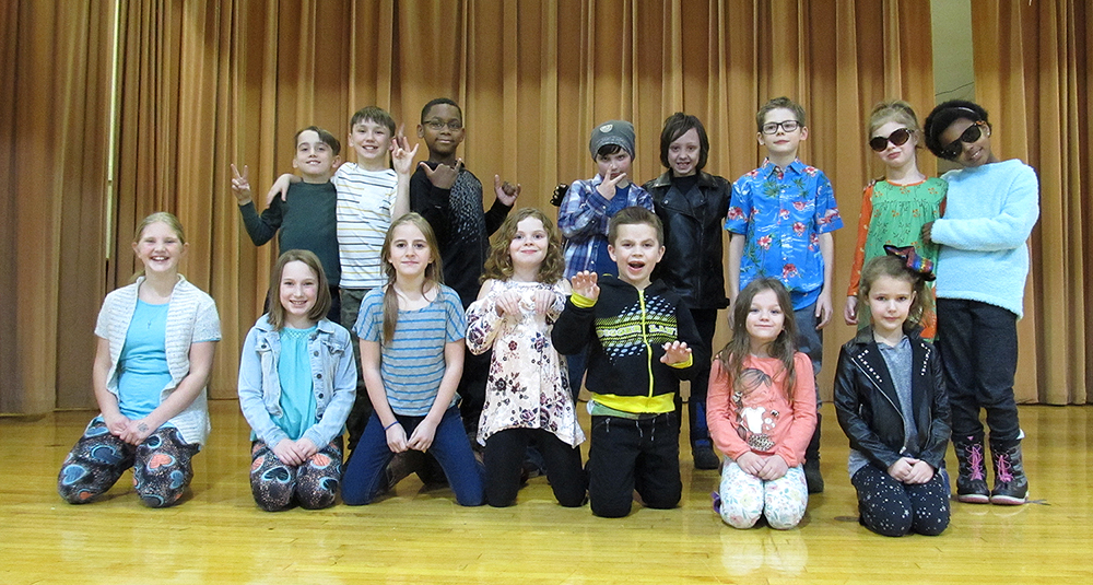 Townsend Elementary talent show.