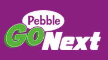 "Button that reads ""pebble go next"""