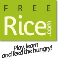 """""""Free rice"""" logo and link"""