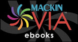 "Button that reads "" Mackin Via eBooks"" and links to database"