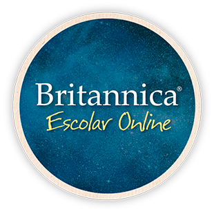 Button reads Britannica Escolar Online and links to database