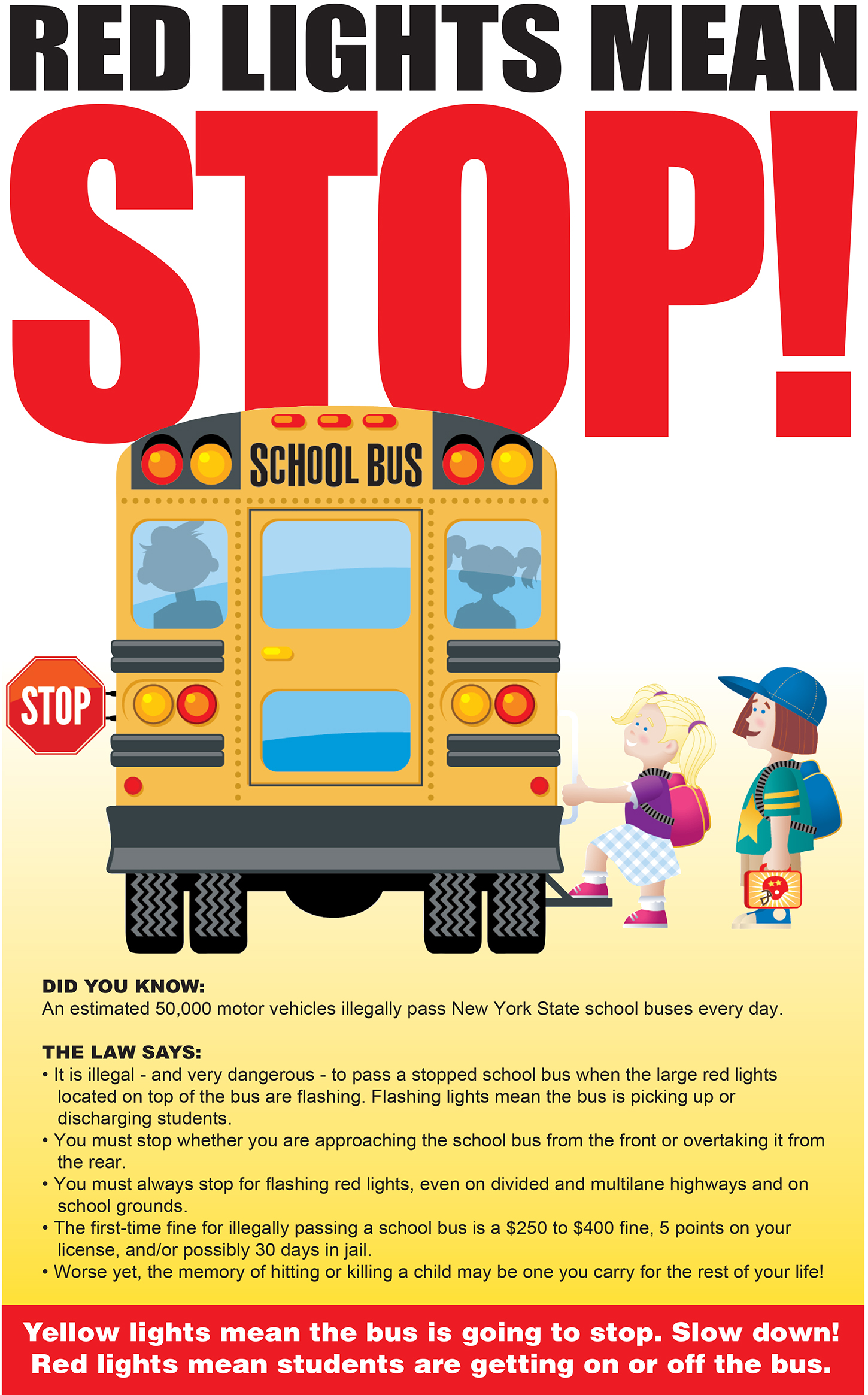 Red Lights Mean Stop! flyer (10/2021)