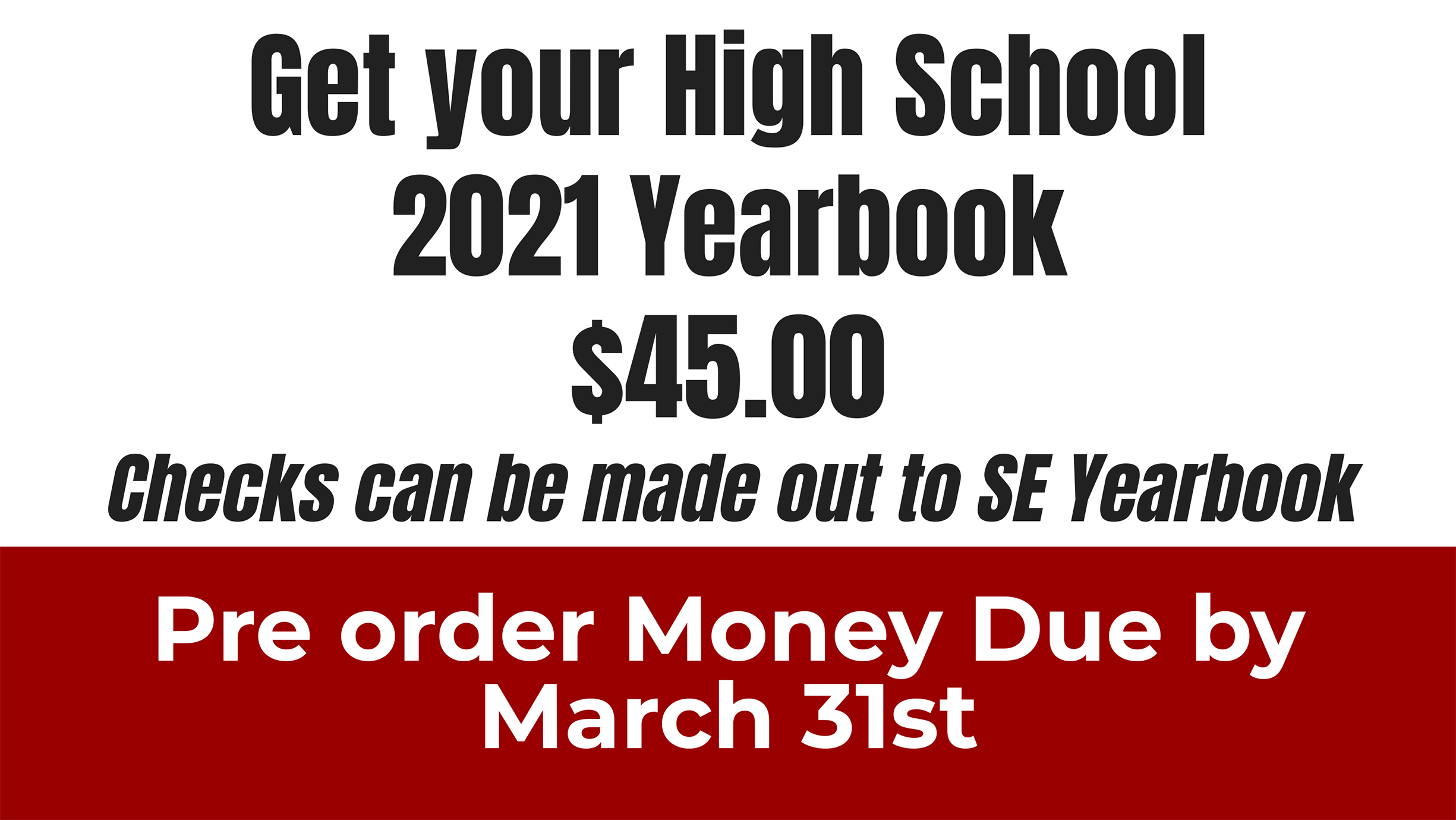 Yearbook ordering ad (2/2021)