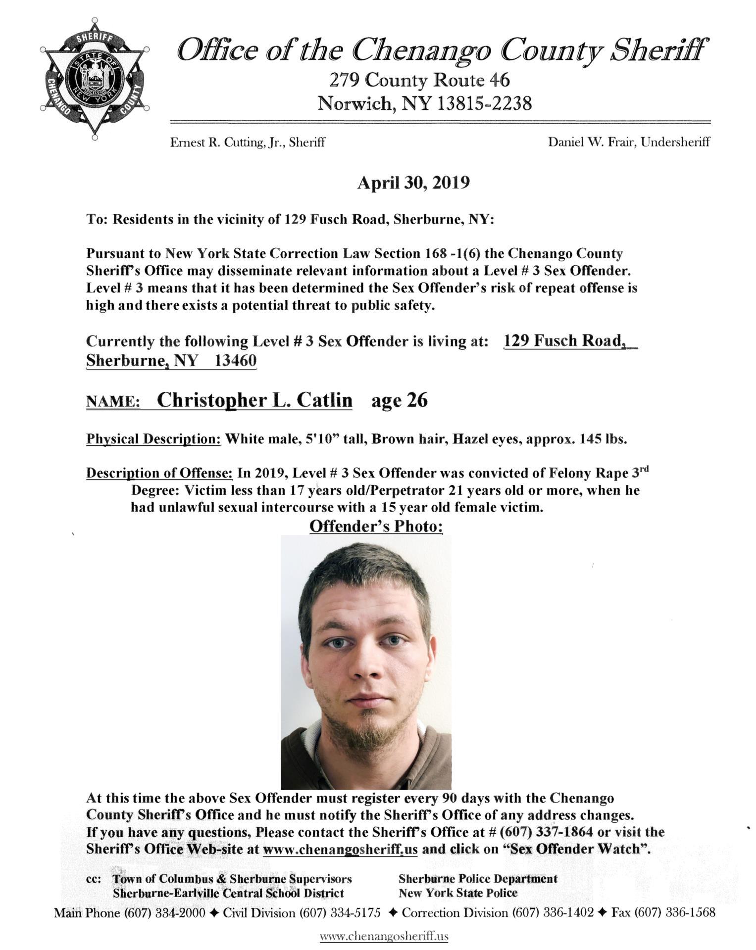 Sex Offender Chris Catlin