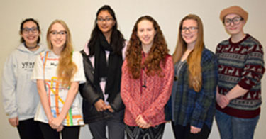 Six Vestal High School Student artistis who won regional Scholastic Art Awards
